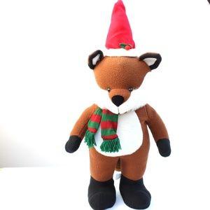 Woodland Christmas Standing Plush Fox Tall